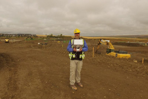 drone dji construction worksite
