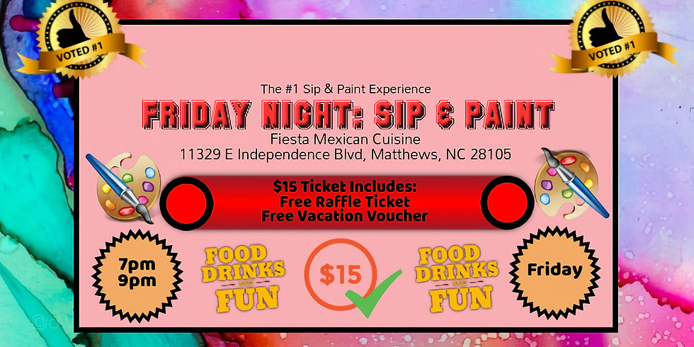 Friday $15: Sip & Paint