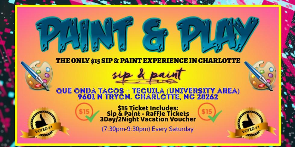 Saturday $15: Sip & Paint