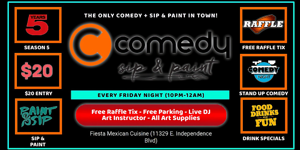 Friday $20: Comedy + Sip & Paint