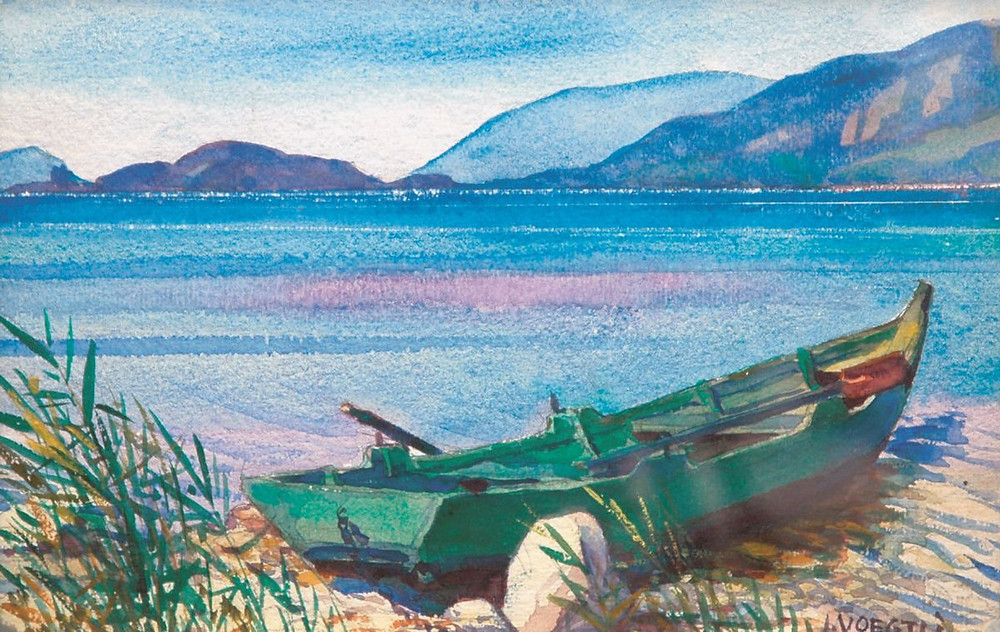 Julius Voegtli, On Lake Biel, c. 1920