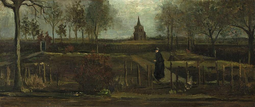 The Parsonage Garden at Nuenen in Spring  by Vincent Van Gogh