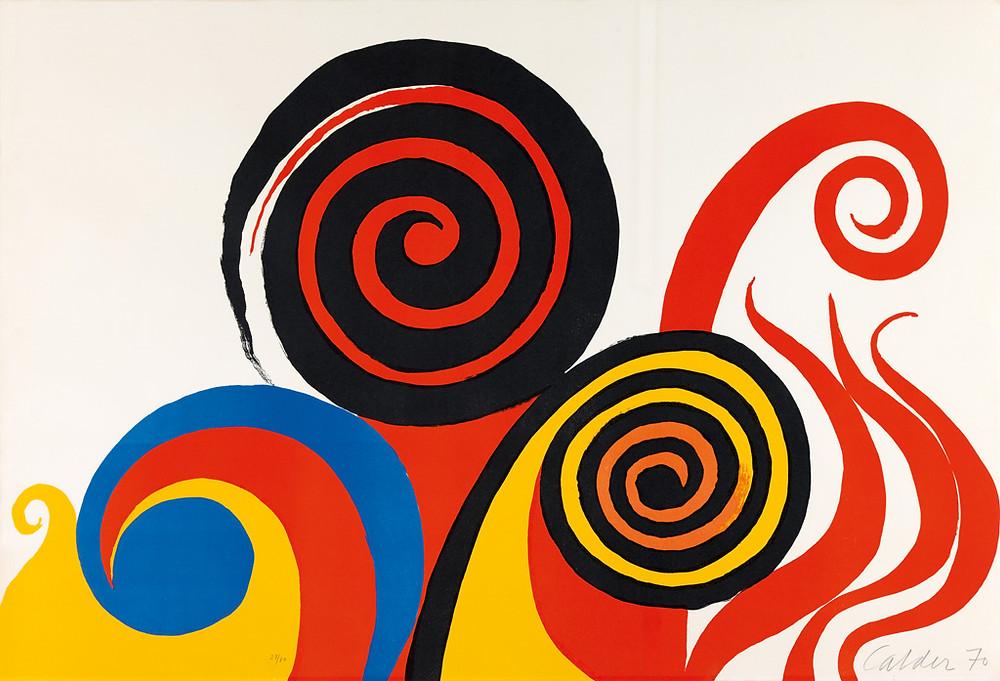 """""""Tempête"""" 1970 Color lithograph"""