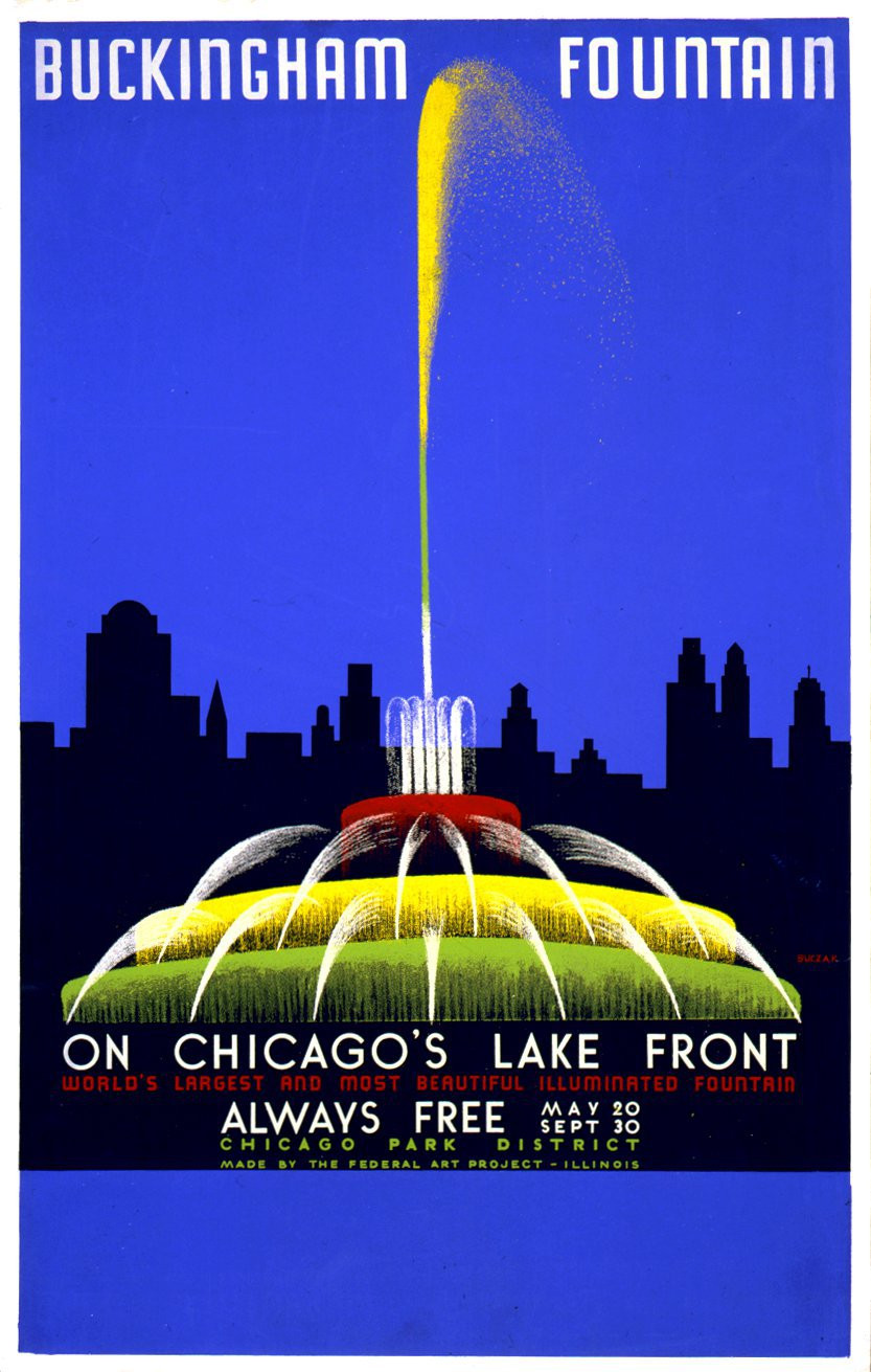 "John Buczak, ""Buckingham Fountain"" 1939"