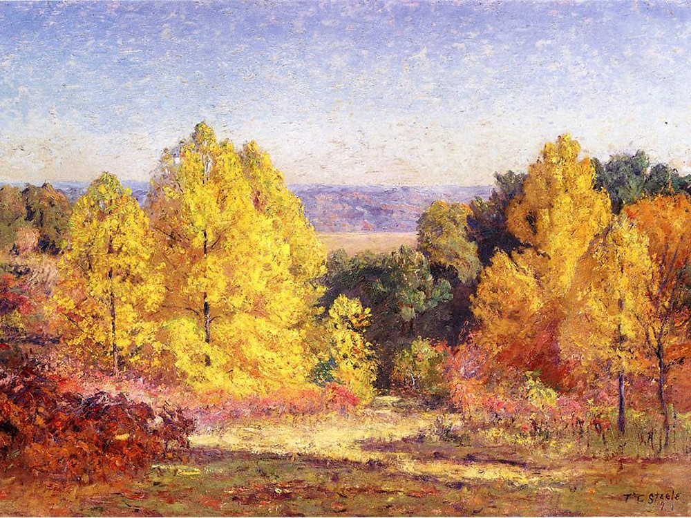 The Poplars, T.C. Steele (1914) oil on canvas