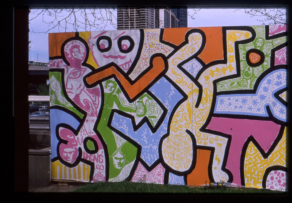 """At The Pinnacle"" by Keith Haring (1989)"