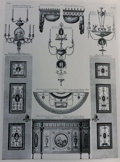 Figure 1: Robert Adam, Published in London in 1777 (from The Works in Architecture of Robert and James Adams) © Morley, John, The History of Furniture