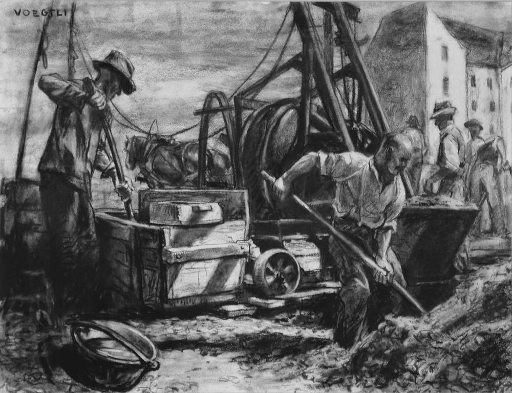 Julius Voegtli, Bauarbeiter, c. 1910