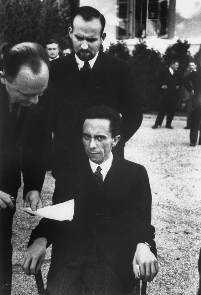 Portrait ofJoseph Goebbels (German, 1897-1945) at a League of Nations Conference in 1933