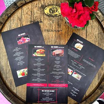 identité visuelle création carte restaurant