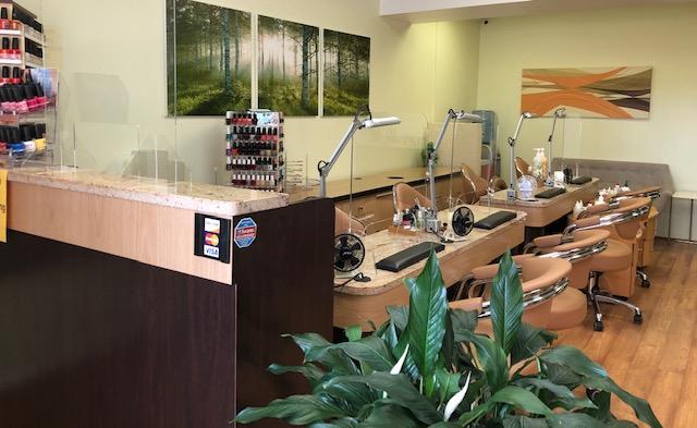 Shielded nail stations