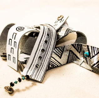 Hand Painted Leather Bracelets