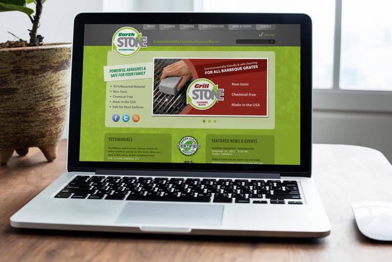 Earthstone International Website Mockup