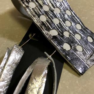 Leather Bracelet & Earring Set