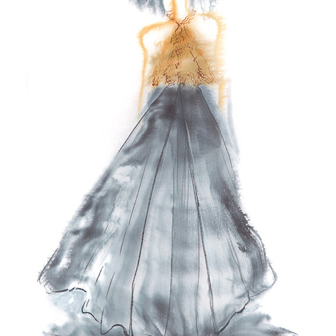 Dentallia Shell Gown Illustration