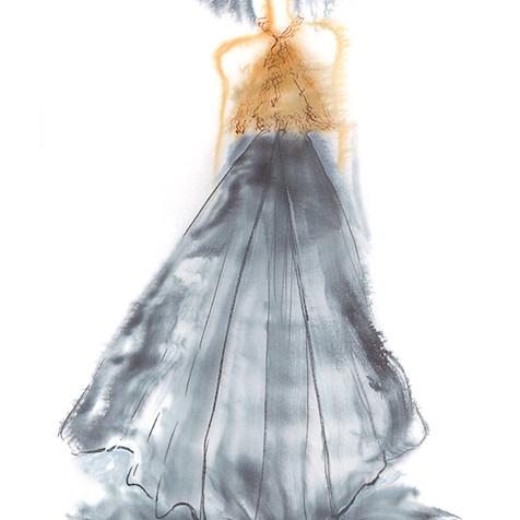 Dentallia Shell Gown Illustration