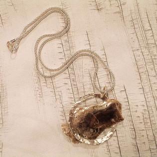 Mica Pendant on Chain