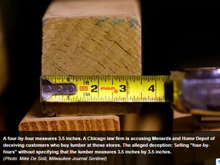 Home Depot and Menards face lawsuits over lumber size description