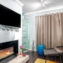 A working electric fireplace!