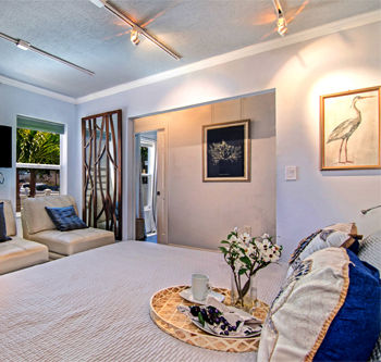Beautiful master bedroom at Cocoa Beach
