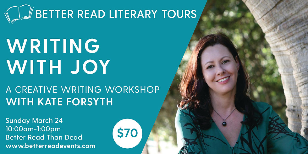 Writing with Joy with Kate Forsyth