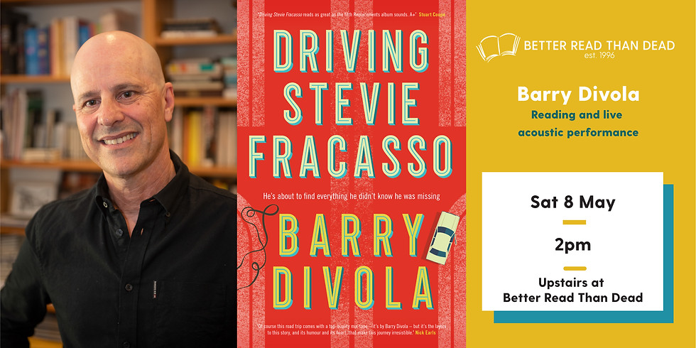 Barry Divola - Driving Stevie Fracasso talk and live performance.