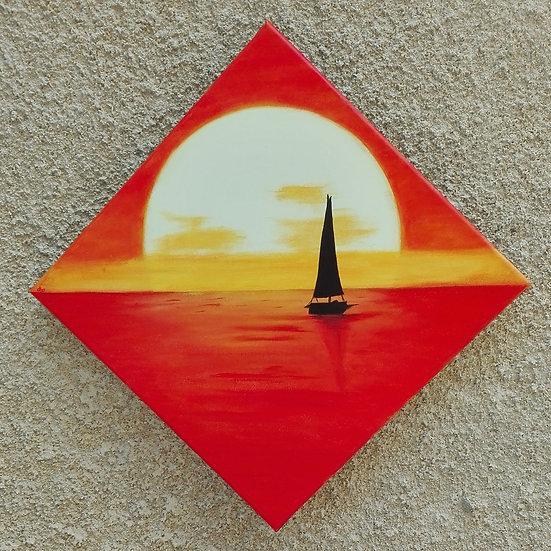 Soleil couchant - 40x40 cm