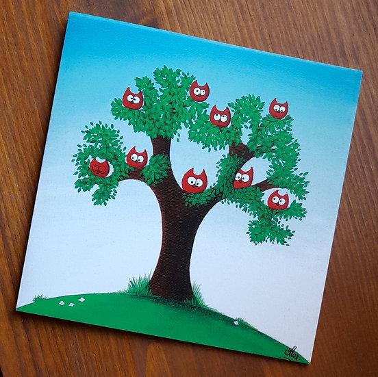 Carte Postale - L'arbre à chouette