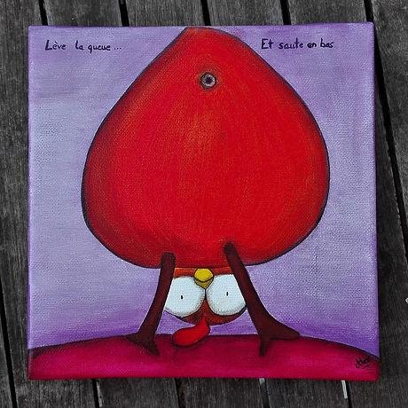 Tableau-Poule-Le Monde d'Alex-Artiste peintre Roanne