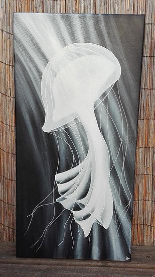 Méduse blanche - 80x40 cm