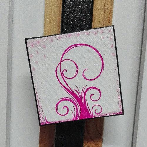 Magnet arbre rose