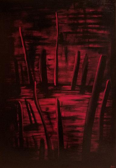 Le marais - 81x54 cm