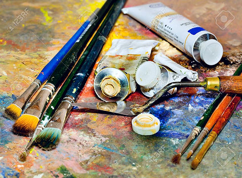 24057148-peinture-de-matériel-artistiqu