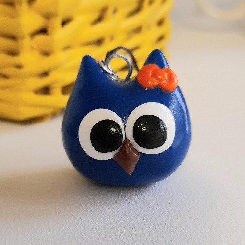 Grigri chouette bleue
