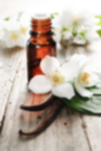 Essential oil with jasmine flower and va