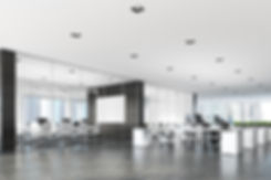 Two conference rooms with glass and dark