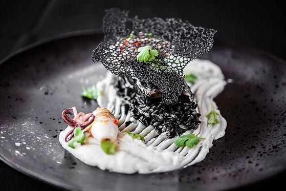 food, seafood, black, elegant, exclusive