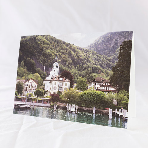 Vitznau in Spring Greeting Card