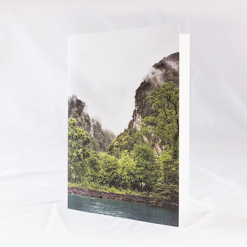 Lake of the Four Forested Settlements Greeting Card