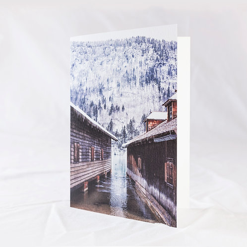 Tucked Up For Winter Greeting Card