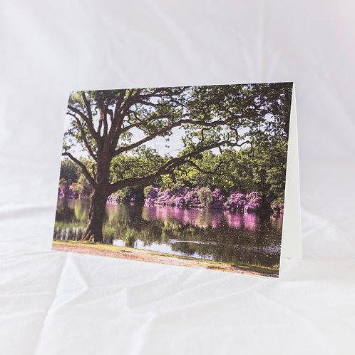 Spring at the Obelisk Pond Greeting Card