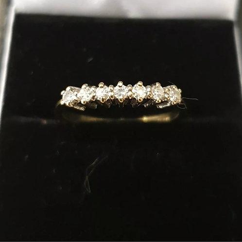 9ct Yellow Gold Diamond 7 Stone Ring