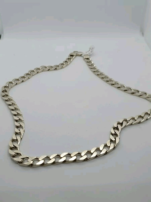 Sterling Silver 925, Curb Chain, 63 Grams