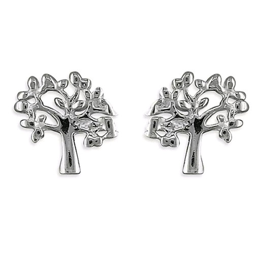 Tree Of Life Sterling Silver 925 Studs