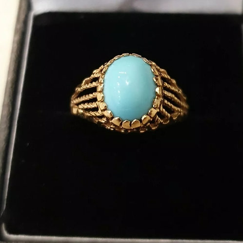 18ct Turquoise Yellow Gold Ring