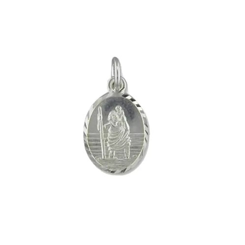 St Christopher, Sterling Silver 925, Oval