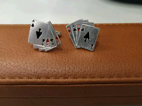 BRAND NEW Sterling Silver Playing Card Cufflinks