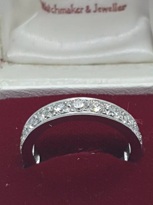 Platinum 2ct full eternity diamond ring size M1/2