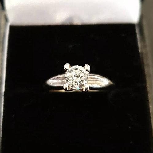 18ct White Gold Diamond Solitaire 73pts