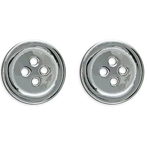 Sterling Silver 925, Plain Button Studs.
